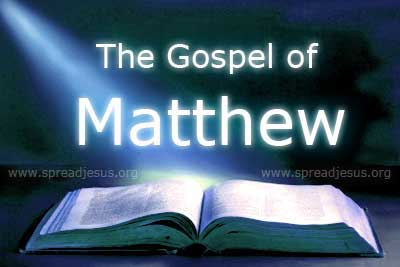 The Gospel of Matthew Photo Credit: www.spreadjesus.org