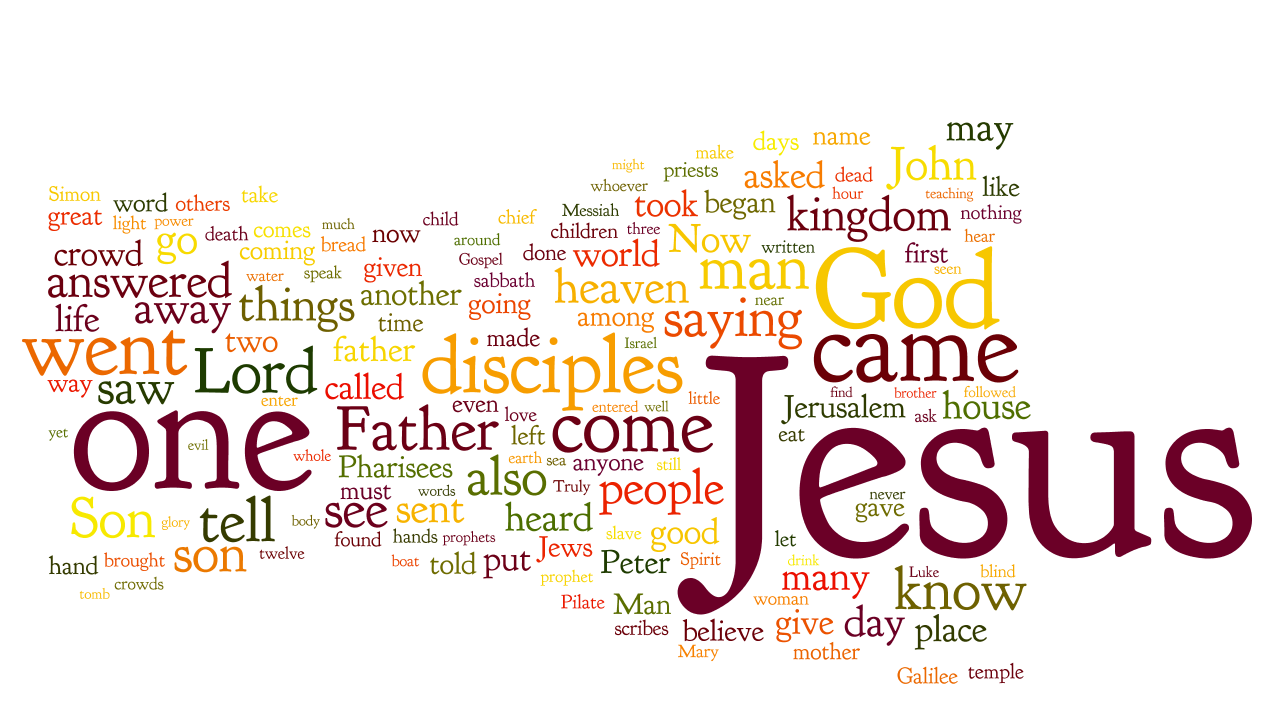 Wordle of the Gospels Photo Credit: www.petergalenmassey.com
